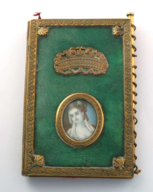 Shagreen Almanac with miniature