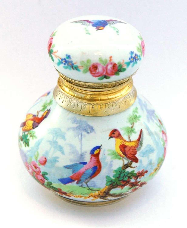 French enamel bird scent