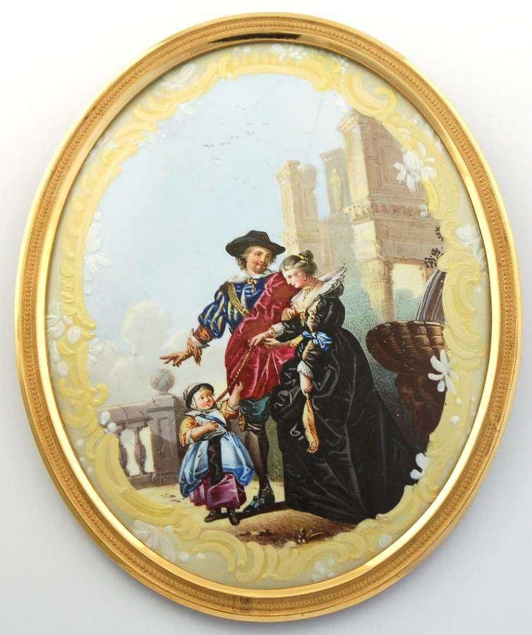 Enamel plaque after Rubens