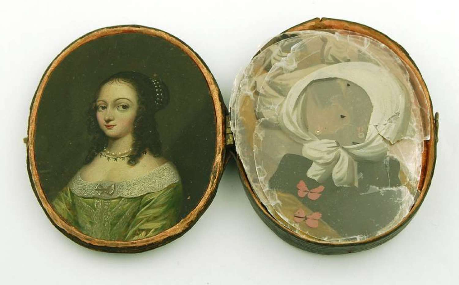 17th Century miniature with micas