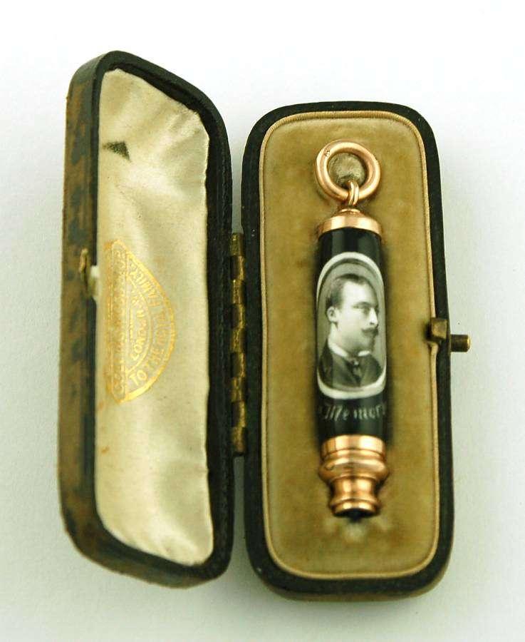 Enamel memorial pencil of Prince Leopold