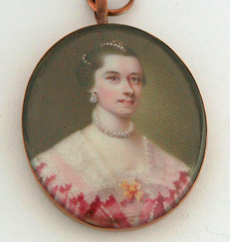 Enamel lady attributed to MacPherson