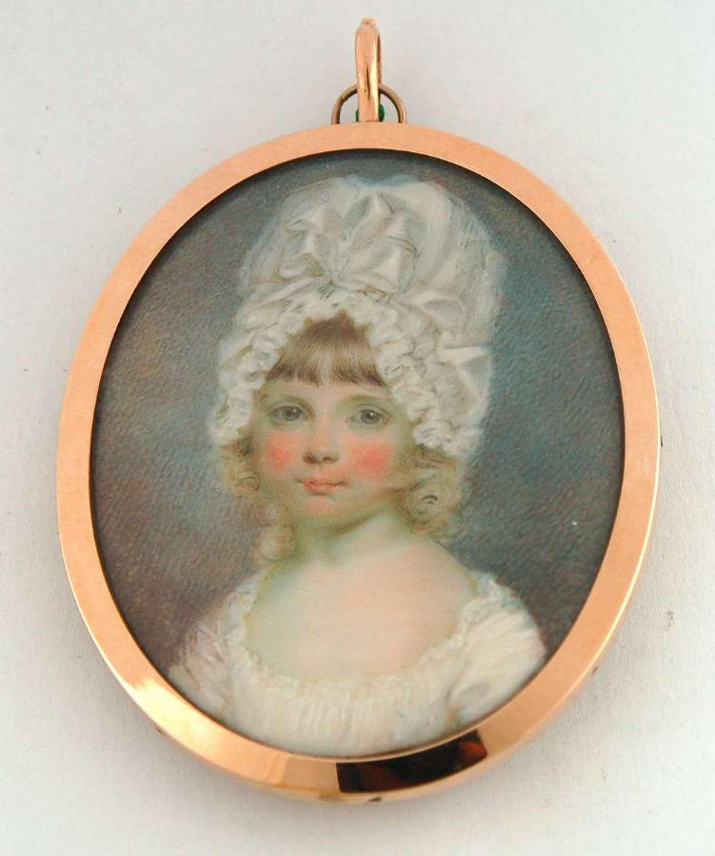 Child with bonnet