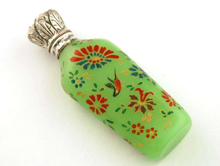 Enamel decorated uranium glass