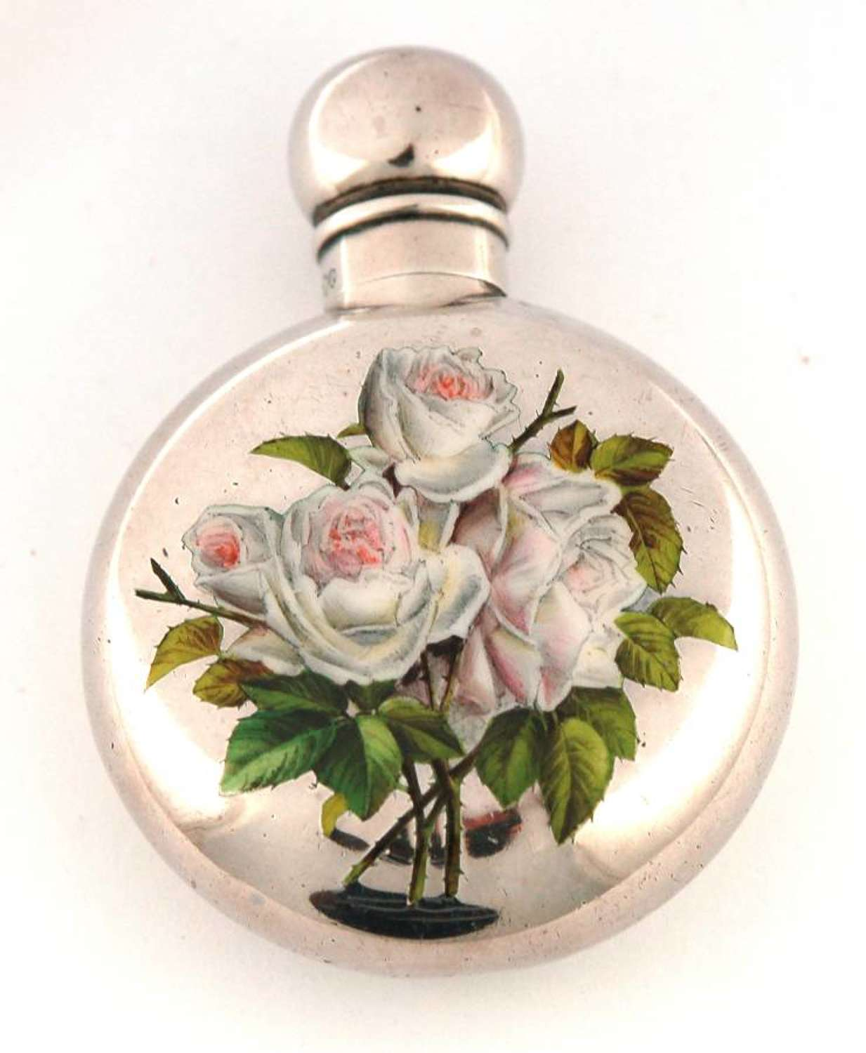 Mordan silver and enamel scent