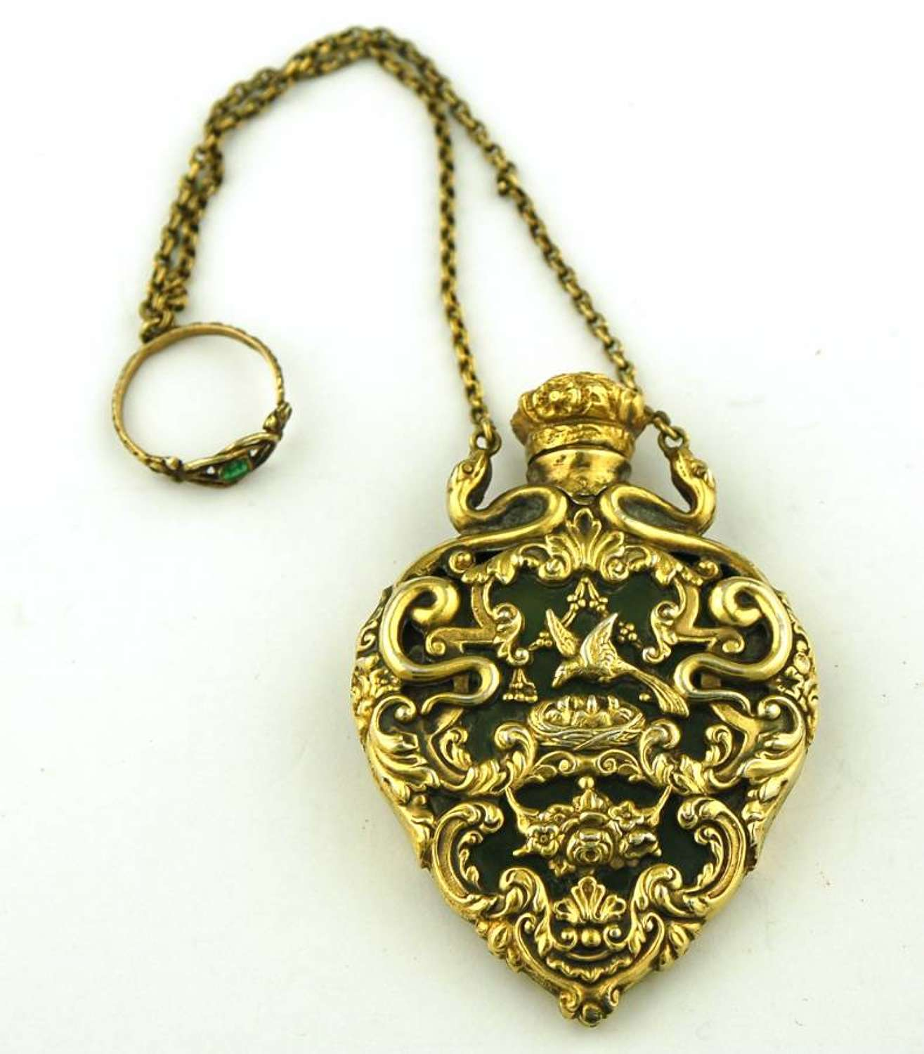 Silver-gilt French Cagework Scent