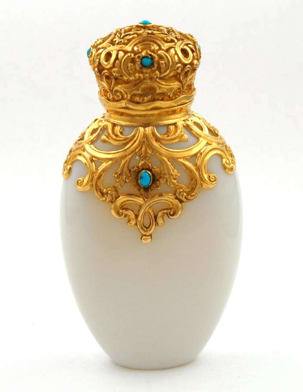 Gold-mounted Scent with Turquoises