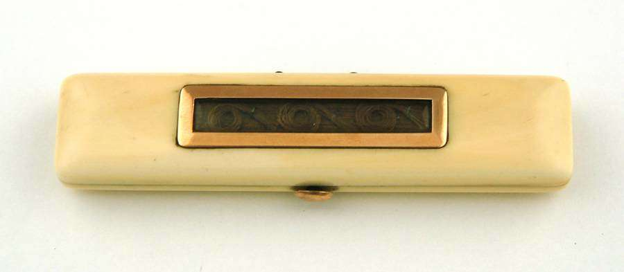 Ivory and Gold Toothpick Box
