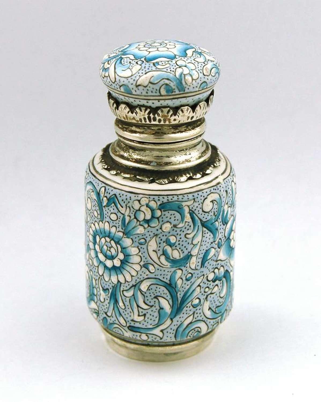 Blue and White Limoges Enamel