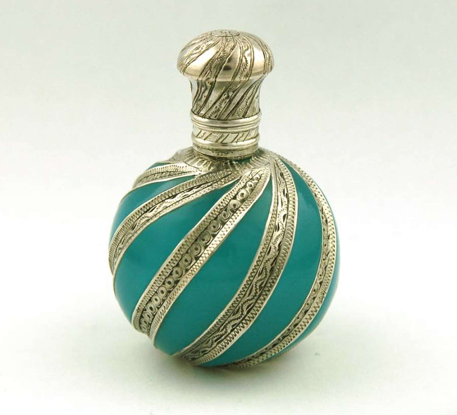 Turquoise and Silver Inlaid Scent