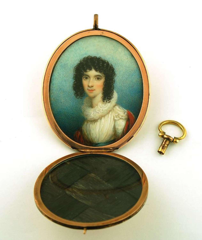 Samuel Shelley Miniature in Hidden Locket