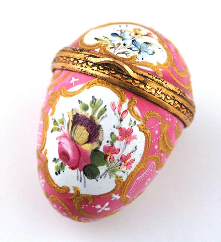 Pink Floral Egg