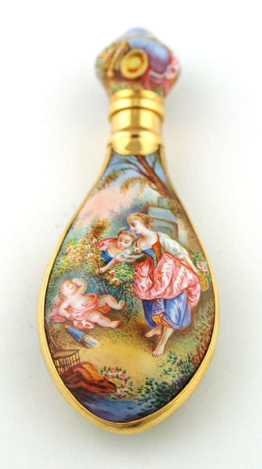 Gold-mounted Enamel Scent
