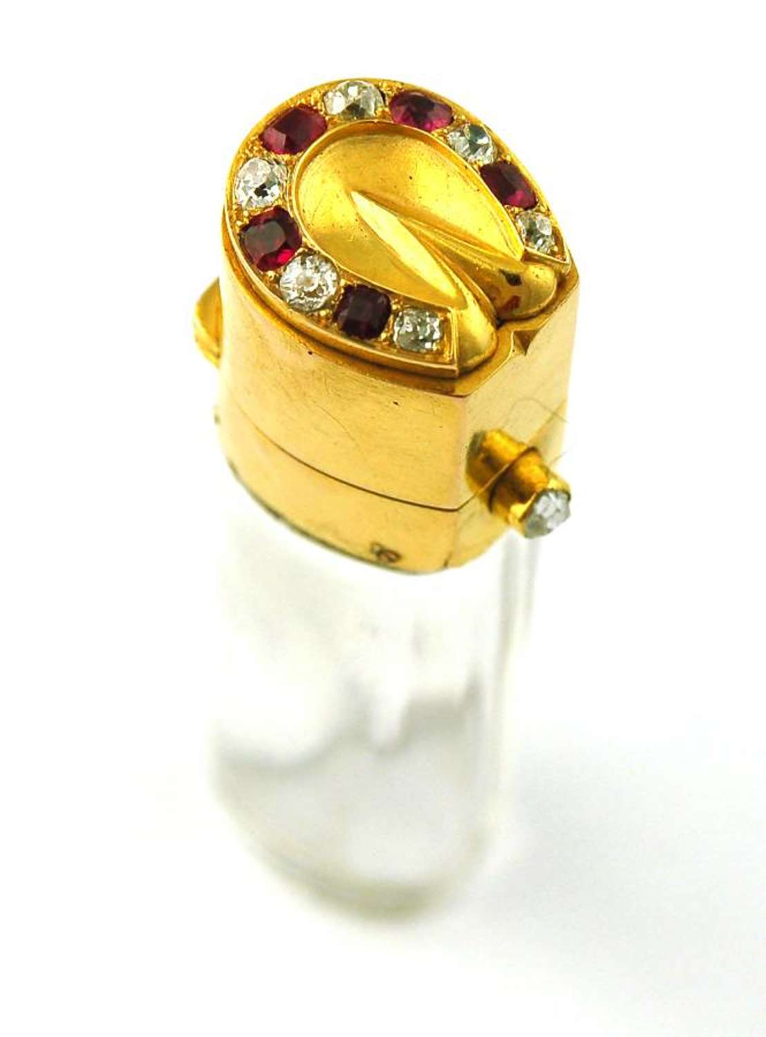 Gold and Jewelled 'Horseshoe' Scent