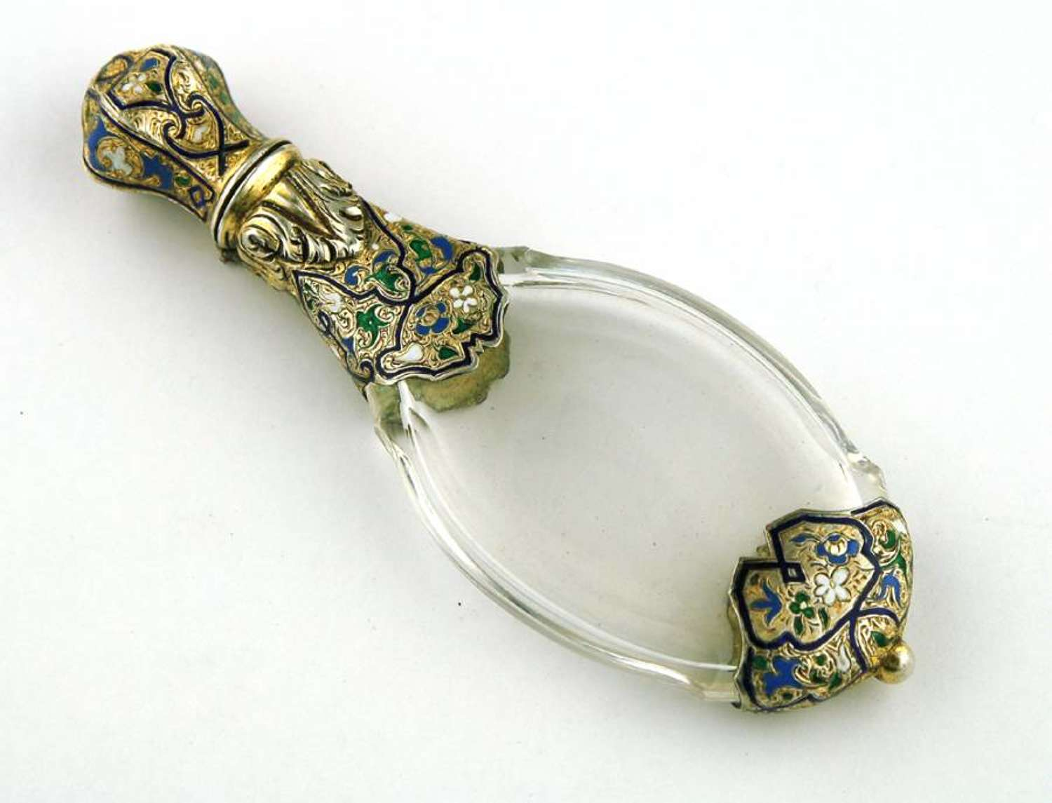 French enamelled Silver Scent