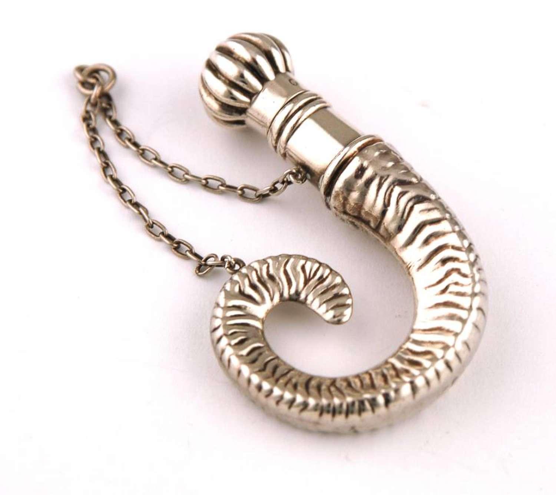 Silver Ram's Horn