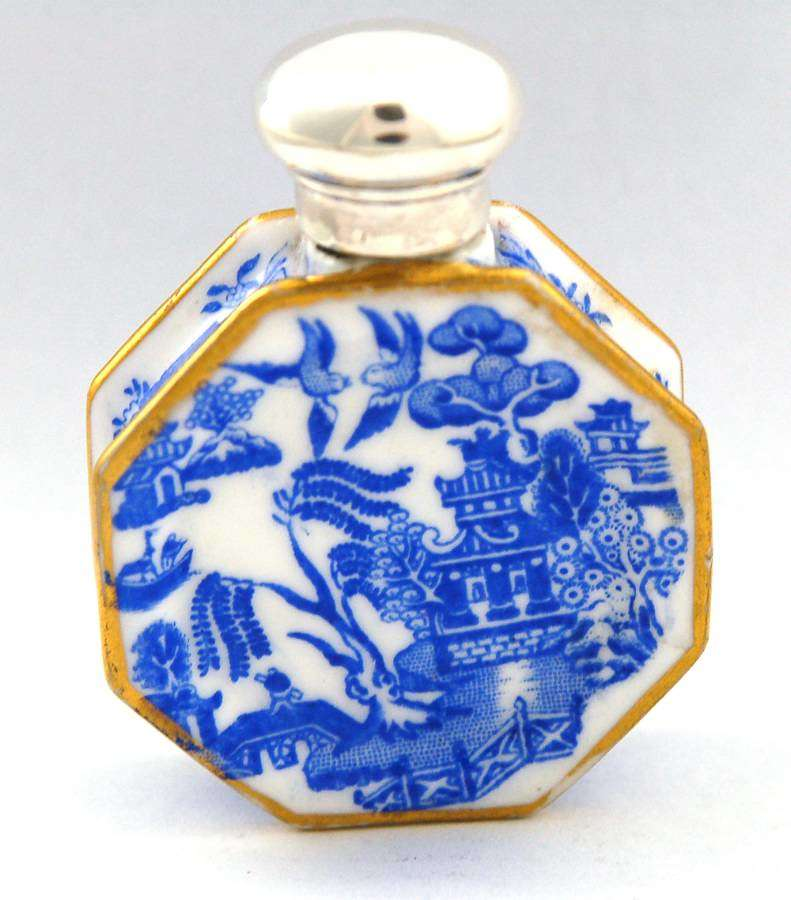 Octagonal Blue and White Plate