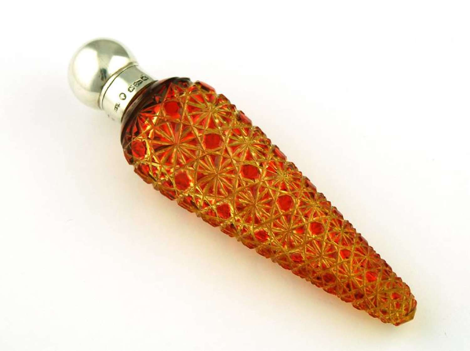 Red on Yellow Cut Glass