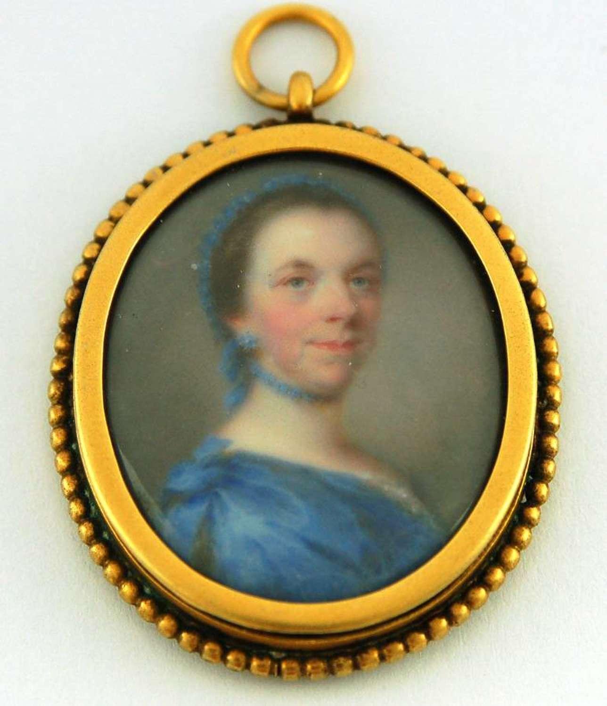 Enamel lady by J Meyer