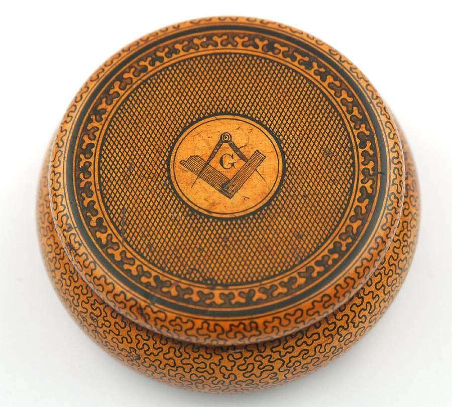 Masonic Penwork Box