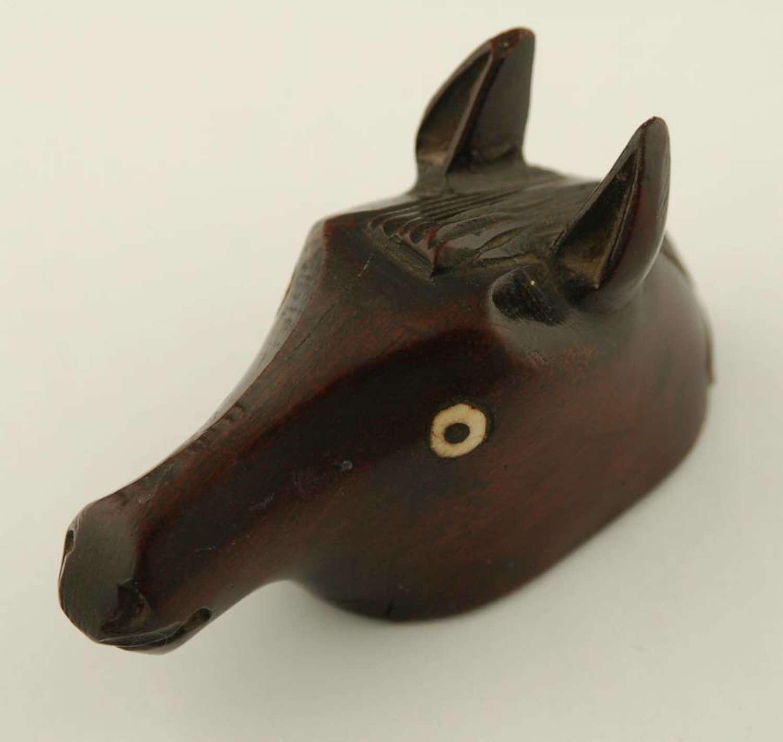 Treen Horse Head Snuff