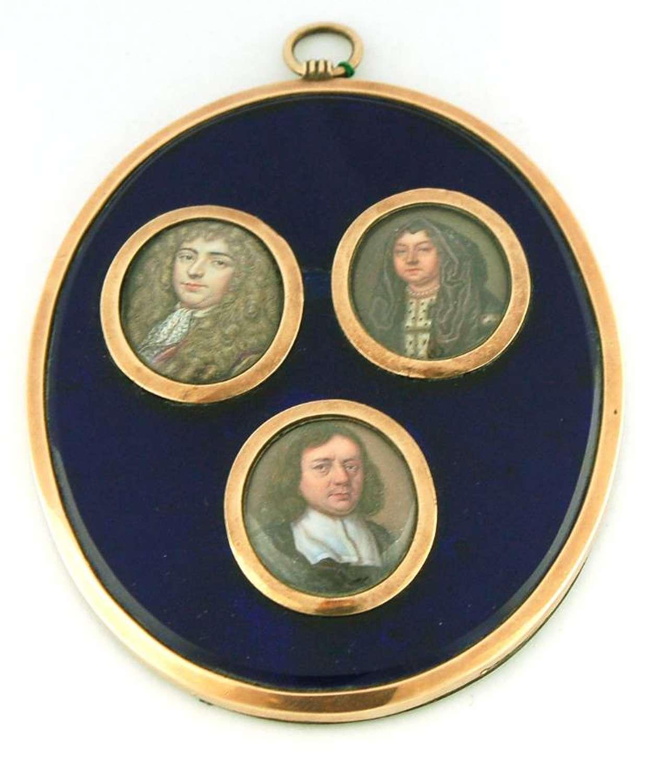 Three 17th Century Enamels