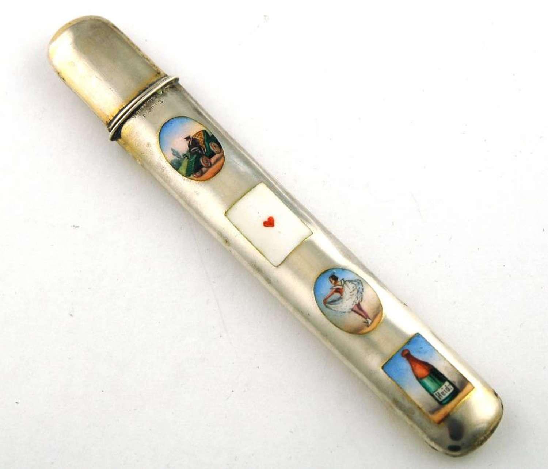 Silver and Enamel Pencil