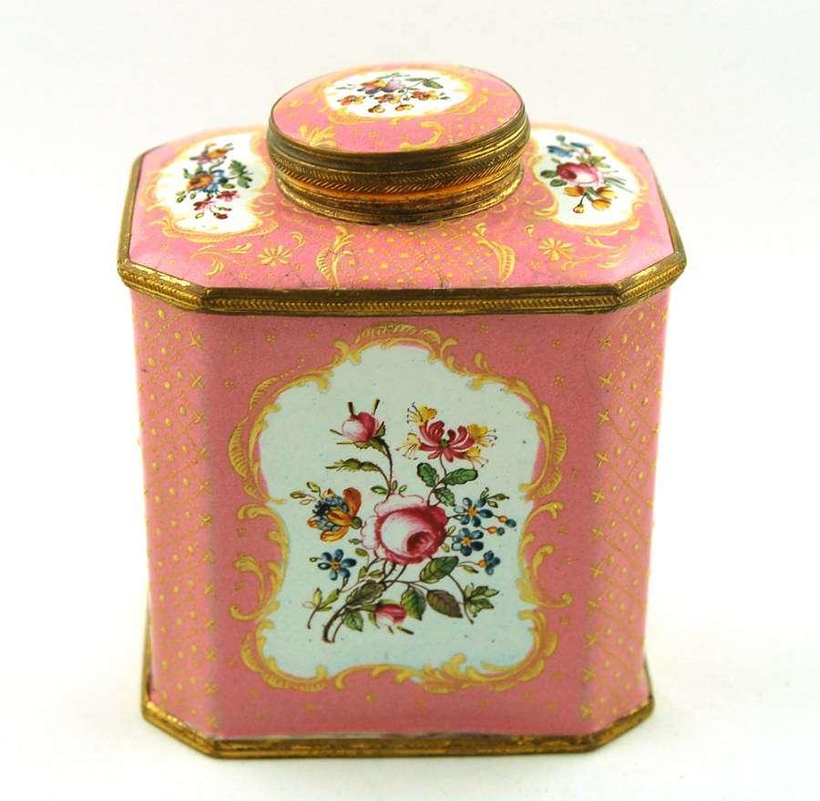 Enamel Tea Caddy