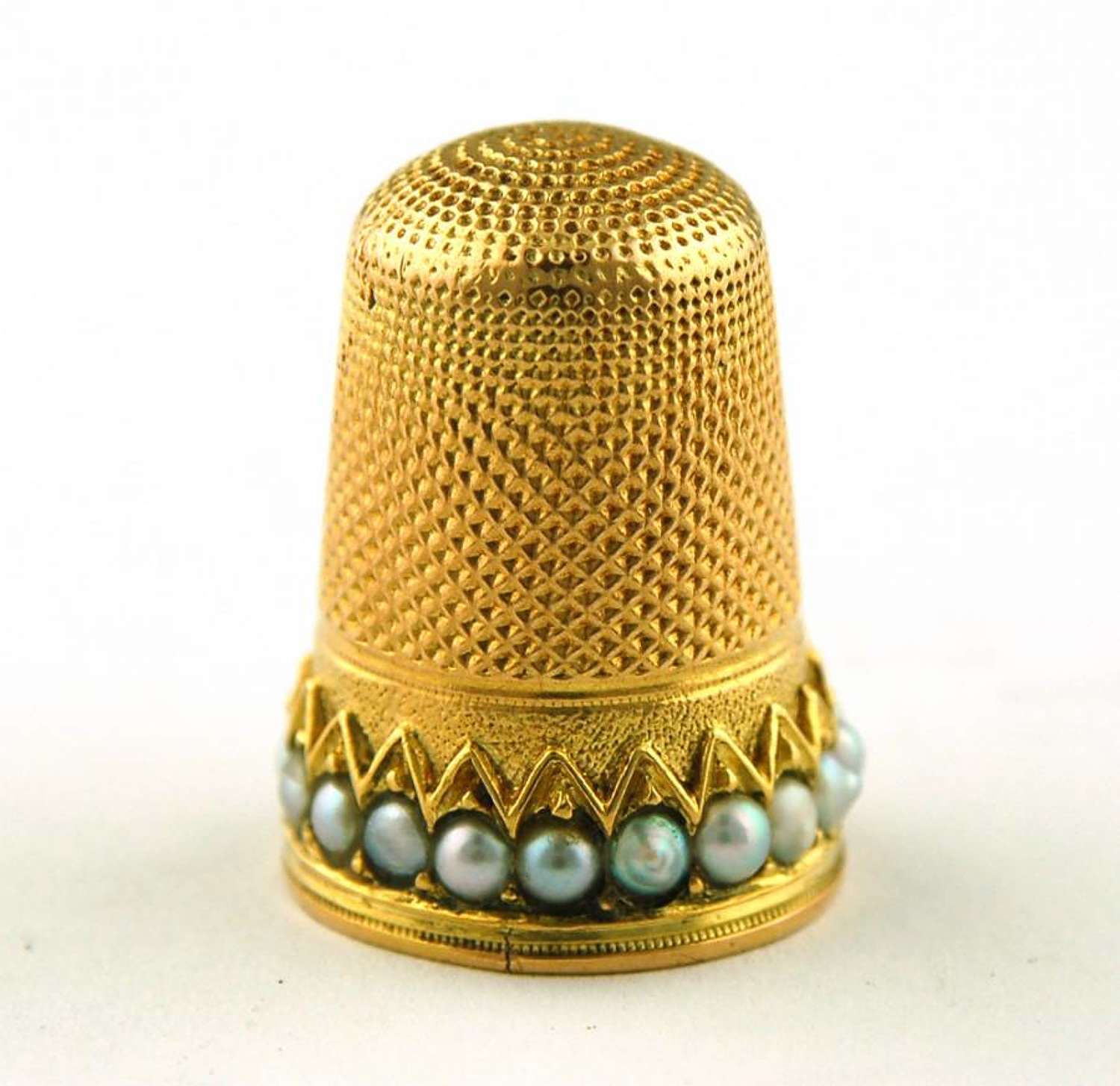 Gold and Pearl Thimble