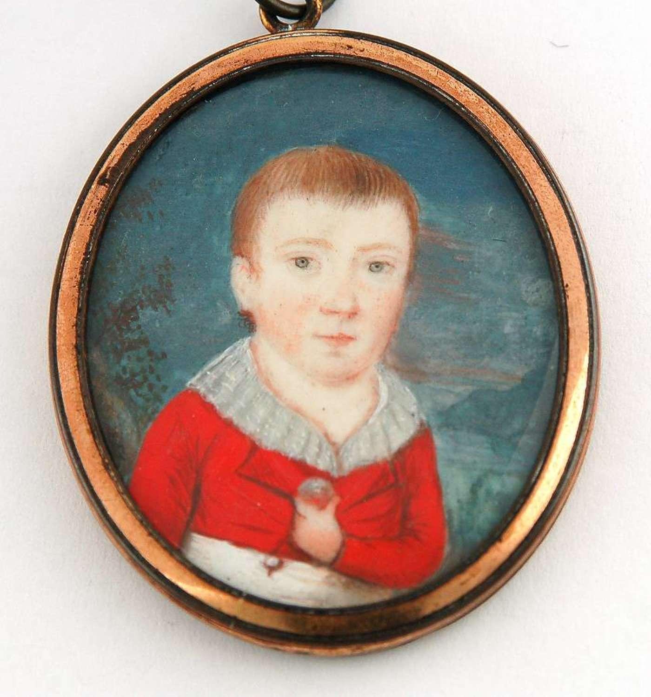 Boy in Red Jacket