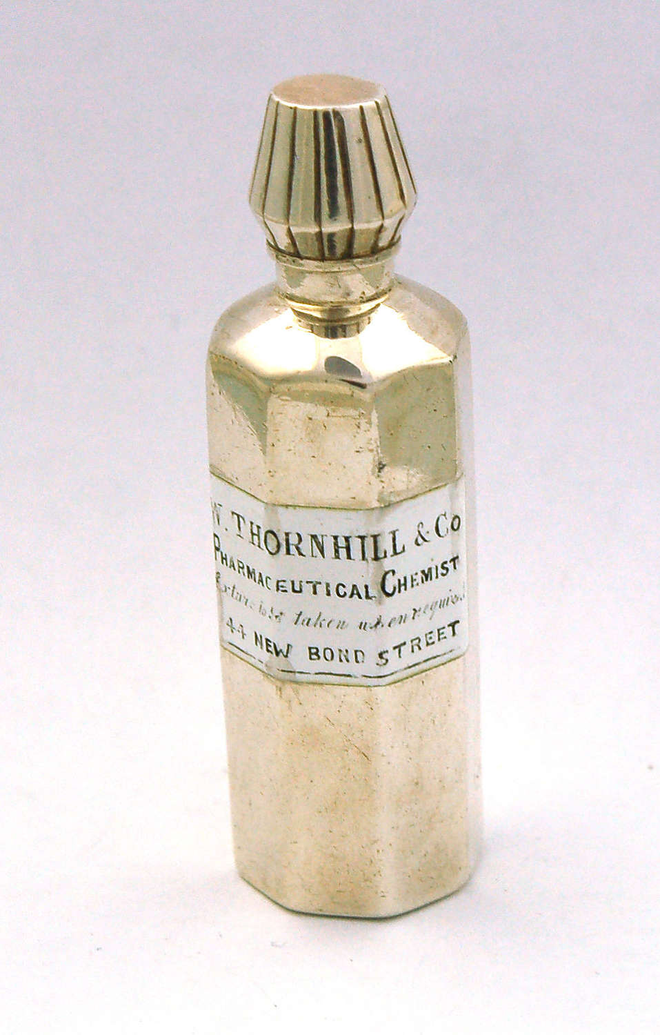 Silver and enamel apothecary scent Thornhill 1884