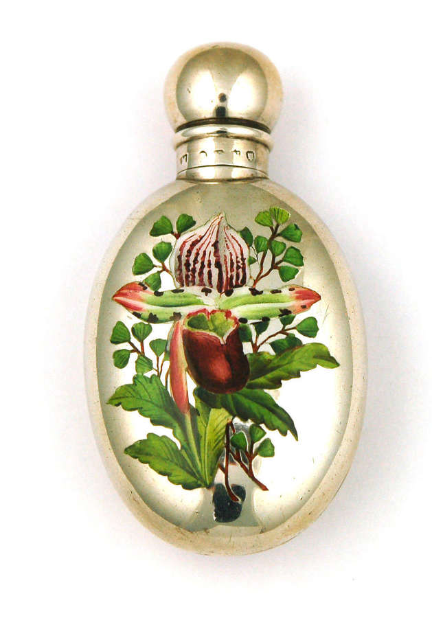S Mordan silver and enamel scent