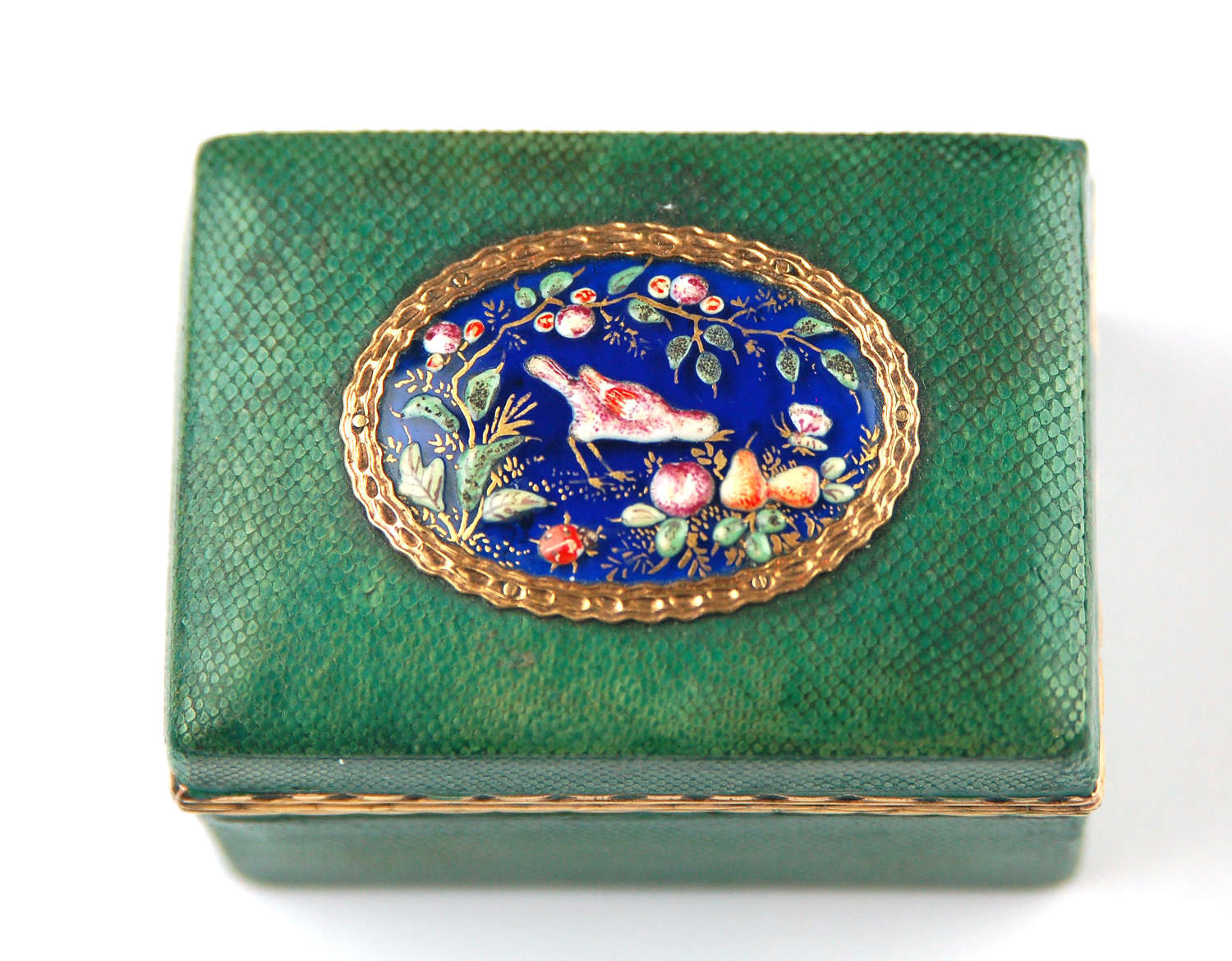 Shagreen box with James Giles plaque C1765